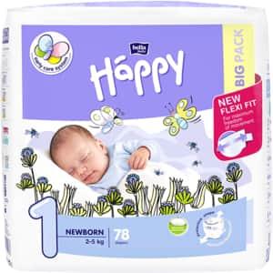Scutece HAPPY Newborn nr 1, Unisex, 2 - 5 kg, 78 buc