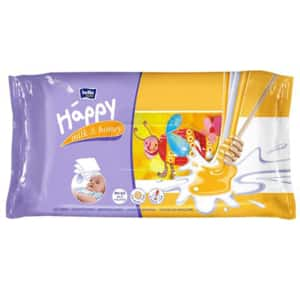 Servetele umede HAPPY Milk&Honey, 2 pachete, 128 buc
