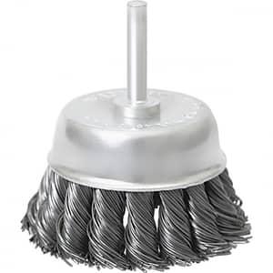 Perie MTX 744709, pentru curatarea suprafetelor de metal, argintiu