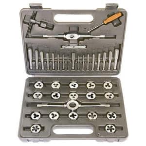 Set filiere si tarozi SPARTA, M3-M12, cutie de plastic, 40 de piese