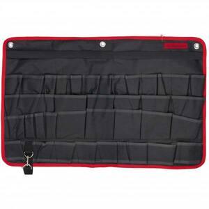 Organizator pentru scule MTX, pentru perete, 38 buzunare, 67.5 x 45 cm, negru-rosu