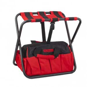 Geanta pentru scule tip scaun MTX, 42 x 29 x 30 cm, negru-rosu