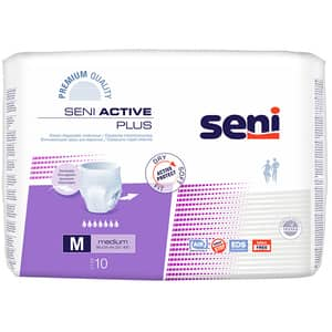 Scutece tip chilot SENI Active Plus, M, 10 buc