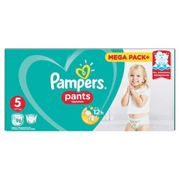 Scutece chilotei PAMPERS Pants Mega Box nr 5, Unisex, 12 - 18 kg, 96 buc