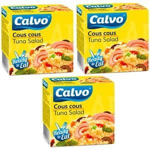 Salata cous cous cu ton CALVO, 150g, 3 bucati