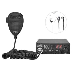 Statie radio CB PNI Escort HP 8001L ASQ, casti cu microfon HS81L