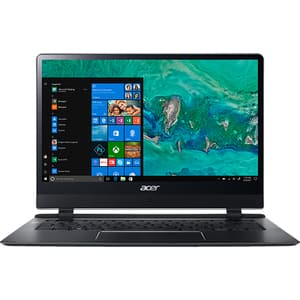 "Laptop ACER Swift 7 SF714-51T-M64K, Intel® Core™ i7-7Y75 pana la 3.6Ghz, 14"" Full HD Touch, 8GB, SSD 256GB, Windows 10 Home"