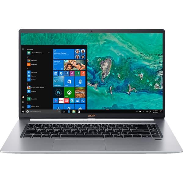 "Laptop ACER Aspire Swift 5 SF515-51T-55VV, Intel® Core™ i5-8265U pana la 3.9GHz, 15.6"" Full HD Touch, 16GB, SSD 512GB, Intel® UHD Graphics 620, Windows 10 Home, argintiu"