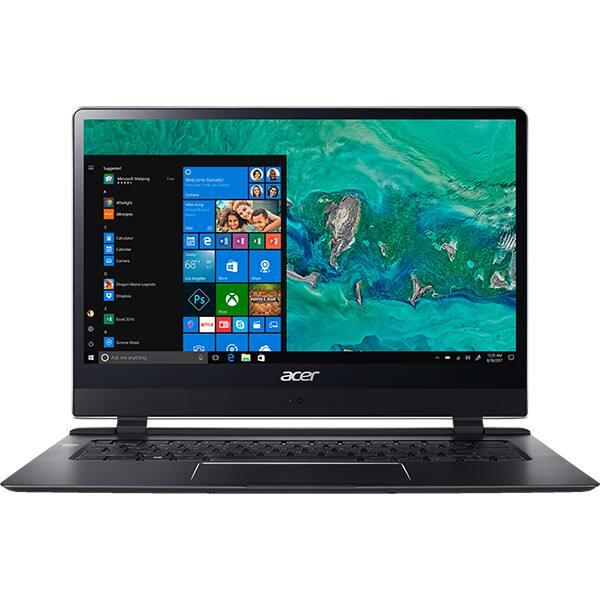 "Laptop ACER Swift 7 SF714-51T-M64K, Intel® Core™ i7-7Y75 pana la 3.6Ghz, 14"" Full HD Touch, 8GB, SSD 256GB, Windows 10 Home"