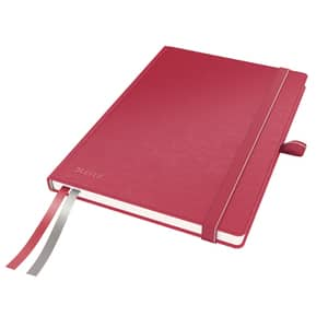 Caiet de birou LEITZ, matematica, A5, 80 file, legatura lipita, rosu
