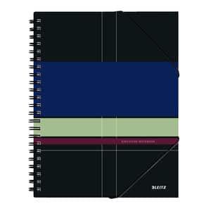 Caiet de birou LEITZ, matematica, A4, 80 file, legatura spirala, negru
