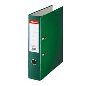 Biblioraft plastifiat/cartonat ESSELTE Economy, A4, 75 mm, verde