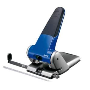 Perforator metalic LEITZ 5180, 65 coli, 2 perforatii, albastru