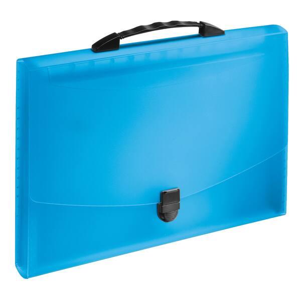 Servieta documente ESSELTE, plastic, 12 compartimente, albastru