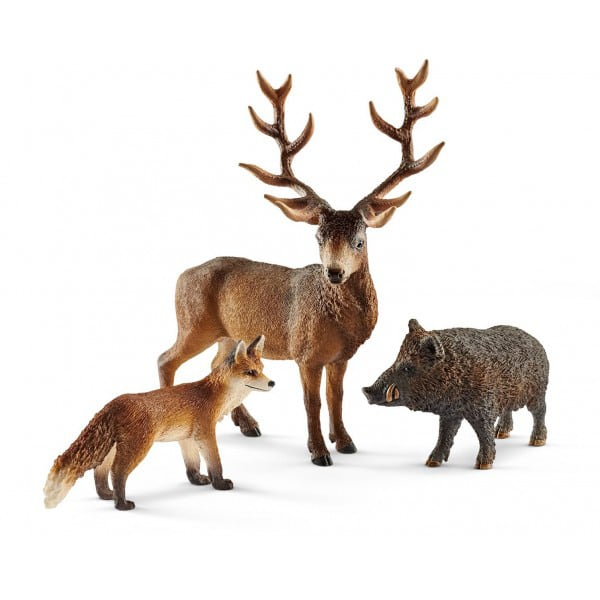 Set figurine SCHLEICH Animale din padurile europene SL41458, 3 ani+, maro