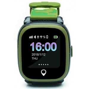Smartwatch pentru copii E-BODA, GPS Tracker, Android/iOS, silicon, Camuflaj