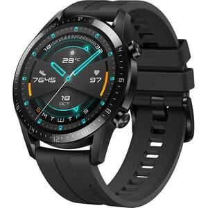 Smartwatch HUAWEI Watch GT 2 46mm, Android/iOS, silicon, negru