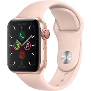 APPLE Watch Series 5 GPS + Cellular, 40mm Gold Aluminium Case, Pink Sand Sport Band