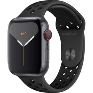 APPLE Watch Nike Series 5 GPS + Cellular, 44mm Space Grey Aluminium Case, Anthracite/Black Nike Sport Band