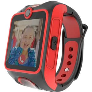 Smartwatch pentru copii MYKI Junior, Android/iOS, 3G, Apel video, silicon, negru-rosu