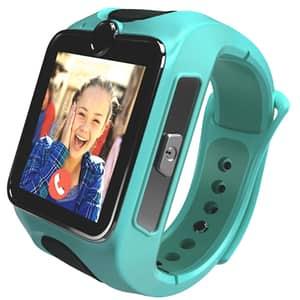 Smartwatch pentru copii MYKI Junior Special Edition, Android/iOS, 3G, Apel video, silicon, verde