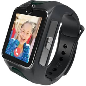 Smartwatch pentru copii MYKI Junior Special Edition, Android/iOS, 3G, Apel video, silicon, gri