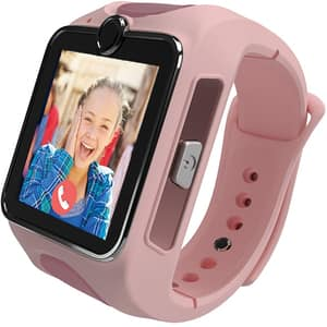 Smartwatch pentru copii MYKI Junior Special Edition, Android/iOS, 3G, Apel video, silicon, roz