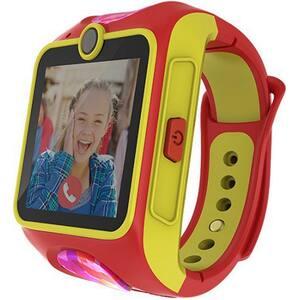 Smartwatch pentru copii MYKI Junior, Android/iOS, 3G, Apel video, silicon, rosu-galben