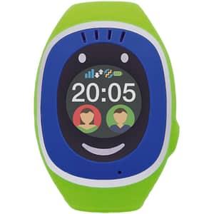 Smartwatch pentru copii MYKI Touch, Android/iOS, 3G, GPS, albastru-verde