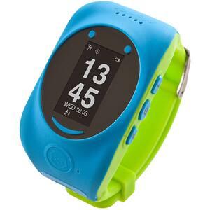 Smartwatch pentru copii MYKI Watch, Android/iOS, 3G, GPS, albastru-verde