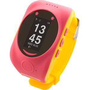Smartwatch pentru copii MYKI Watch, Android/iOS, 3G, GPS, roz-galben