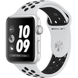 APPLE Watch 3 Nike+ 42mm Silver Aluminium Case, Platinum/Black Nike Sport Band