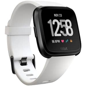 Smartwatch FITBIT Versa, Android/iOS, silicon, White/Black