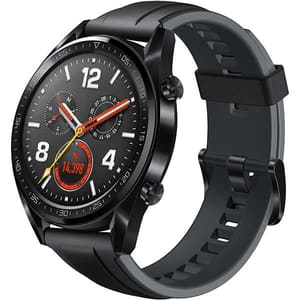 Smartwatch HUAWEI Watch GT, Android/iOS, silicon, negru
