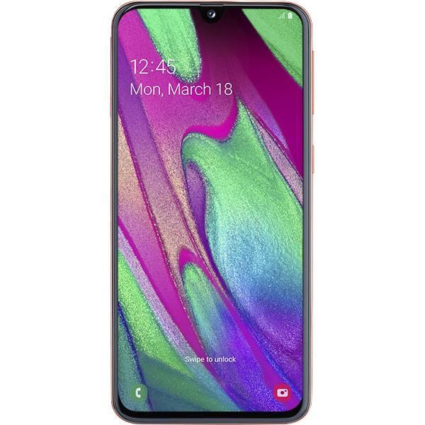SAMSUNG Galaxy A40, 64GB, 4GB RAM, Dual SIM, Orange-Coral