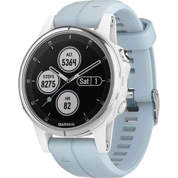 Smartwatch GARMIN Fenix 5S Plus Android/iOS, silicon, Silver/White