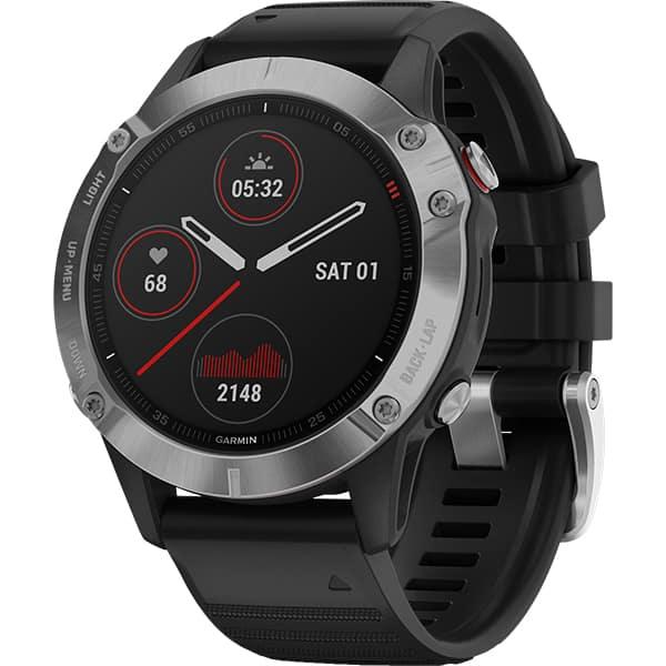 Smartwatch GARMIN Fenix 6, 47mm, Android/iOS, silicon, negru
