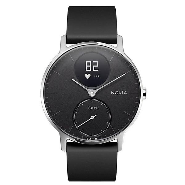 Smartwatch NOKIA Steel HR 36mm, Android/iOS, silicon, negru