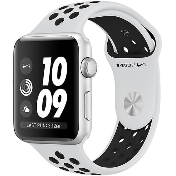 APPLE Watch 3 Nike+ 42mm Silver Aluminium Case, Platinum/Black Nike Sport Band
