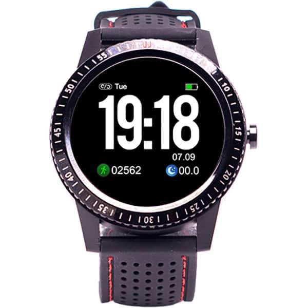 Smartwatch E-BODA Smart Time 360, Android/iOS, silicon, negru