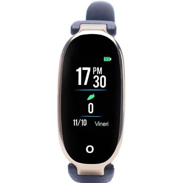 Bratara fitness E-BODA Smart Time 400, Android/iOS, silicon, negru