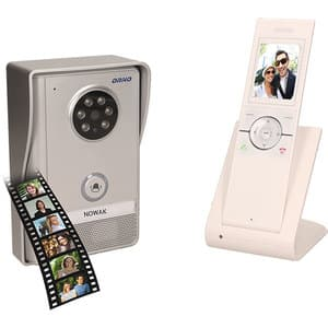 Interfon video Wireless ORNO OR-VID-XE-1051/W, LCD, 2.4 inch, gri-alb