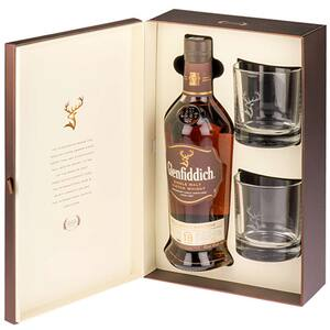 Whisky Glenfiddich 18 YEAR OLD, 0.7L + 2 pahare