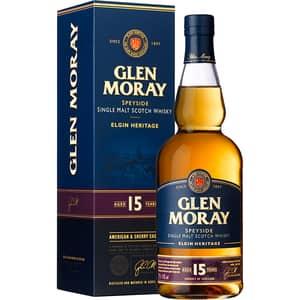 Whisky Glen Moray Single Malt Scotch 15 YO, 0.7L