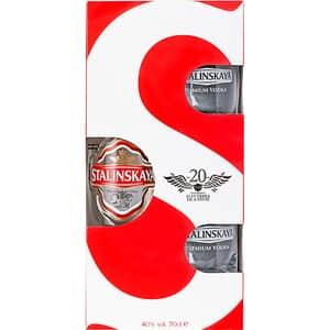 Vodka Stalinskaya, 0.7L + 2 pahare