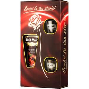 Lichior Rose Mary Cherry, 1L + 2 pahare