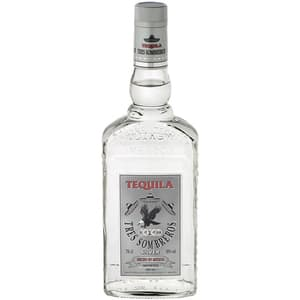Tequila Tres Sombreros Tequila Silver 38%, 0.7L