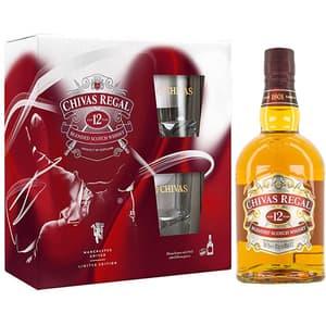 Whisky Chivas 12 Yo, 0.7L + 2 pahare