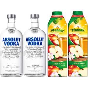 Pachet cadou PFANNER&ABSOLUT Vodka, 1L