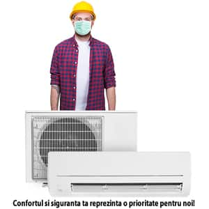 Instalare aer conditionat in 3-5 zile lucratoare - pentru aparatele de 9.000-16.000BTU fara kit de montaj inclus